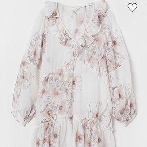 NWT H&M Boho Floral Dress Midi 10